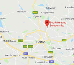 map of Bolton showing area covered